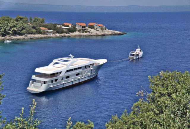 Launching a ship for nautical tourism