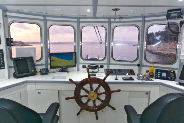 Delivery of tuna farm workboat